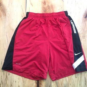 Men's Nike Dri-Fit Lacrosse Shorts XL Red / White